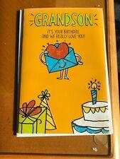 3-D Pop Up Happy Birthday We Love You Grandson American Greetings Card