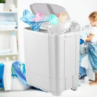 26LBS Compact Portable Washing Machine Twin Tub w/ Drain Pump Spiner Dryer