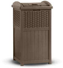 Suncast Outdoor Wicker Trash Hideaway-No Mess Spill Out