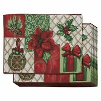 6 Pack Dining Table Placemats Christmas Kitchen Table Mats Xmax Holiday Ornament