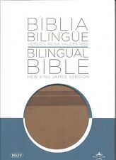 Biblia Bilingue / Bilingual Bible RVR 1960/NKJV; Leathersoft / Brown Duo Tone
