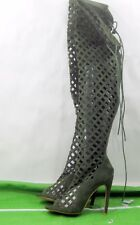 """NEW Cape Robbin Green 4.5""""Stiletto Heel Summer Over Knee Sexy Boots Size 6"""
