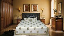 Latest Hand made New Flower Design king size double Bed Sheet & 2 Pillow Cover