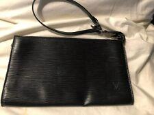 LOUIS VUITTON Epi Pochette Wristlet Pouch Handbag Black