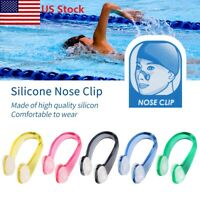 US 1/5PCS Unisex  Soft Silicone Waterproof Swimming Pool Nose Clip Kit Diving DS