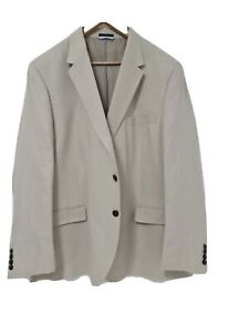 """Marks & Spencer LINEN/NEUTRAL  Blazer Jacket 50""""CHEST  NEW RRP £79 BRAND NEW"""