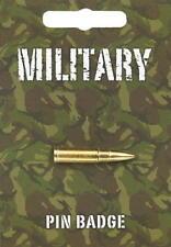 Military Bullet Lapel Pin Badge