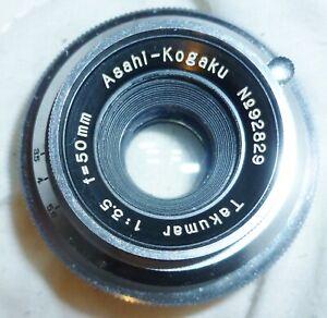 Asahi-Kogaku Takumar 50mm f3.5 M37 Lens