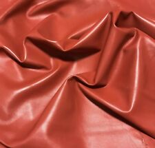 "RUST ORANGE Supple Lambskin Leather Whole Hide 8""x8"" Piece"