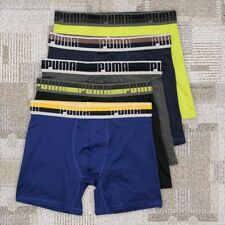 Puma 5 Pack Mens Quick Dry Sports Trunks Boxer Briefs Underwear S-XL