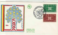 Europa France 1963  Paris Slogan Cancel Tree of Stars Pic FDC Stamps Cover 25978
