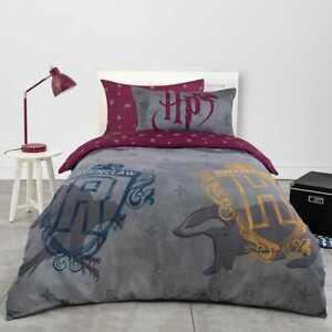 Harry Potter House Teams SINGLE Bed Quilt Doona Duvet Cover Set Single