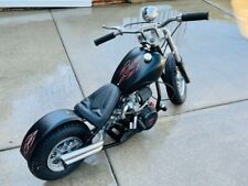 Little Badass Chopper with Honda Gx160 Custom Matte Black with hotrod pinstripes
