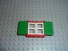Lego 2x window fenêtre 1x2x3 Flat Front rouge//red 60593 NEUF