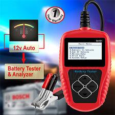 12V LCD Auto Battery Tester Analyzer Tool Car Flooded GEL AGM EFB 100-2000 CCA