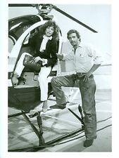 LEE HORSLEY PAMELA HENSLEY MATT HOUSTON HELICOPTER ORIGINAL 1984 ABC TV PHOTO
