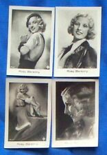 Rosy Barsony 1933 Ramses Film Star Cigarette Cards Lot of 4