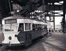 PHOTO OF NYC TROLLEY MANHATTAN WELFARE ISLAND QUEENS PLAZA  c.1940 Free Ship!