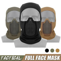 Tactical Full Face Steel Mesh Mask Hunting Airsoft Paintball Mask For CS Game ♓