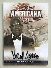 HANK AARON - 2008 Donruss Threads Baseball Americana Signatures AUTO - #ed: 4/5