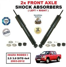 FOR ISUZU RODEO I 2.5 3.0 DiTD 4x4 2003-2012 FRONT LEFT + RIGHT SHOCK ABSORBERS