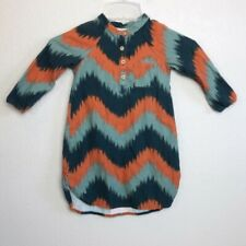 Bobo Choses Ikat Chevron Henley Long Sleeve Tunic Dress Toddler Girl 2-3 years