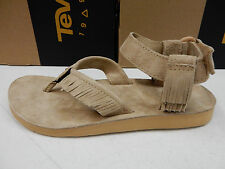 TEVA WOMENS SANDALS ORIGINAL SANDAL LEATHER FRINGE BROWN SIZE 9