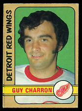 1972 73 OPC O PEE CHEE #223 GUY CHARRON VG-EX DETROIT RED WINGS HOCKEY CARD