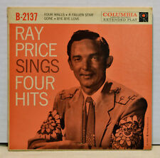 Ray Price Sings Four Hits 45 EP COVER ONLY Columbia B-2137 Countrt Western Pop