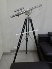 Marine Nautical Telescope With Black Wooden Stand Double Barrel telescope