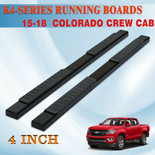 "Fit 15-18 Colorado/Canyon Crew Cab 4"" Side Step Nerf Bar Running Board H BLK"