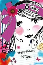 Carte D'Anniversaire Fille 8 Ans Today 8th Wishing Well (A53)