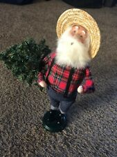 Byers' Choice-Santa The Carolers 2011 Holding Tree Lumber Jack Rare!