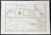 1780 Bonnne Original Antique Maps of Papua New Guinea New Ireland, Pacific Isles