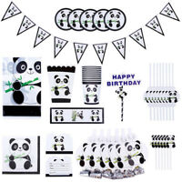 Panda Birthday Party Tableware Decorations Supplies Plates/Napkins/Cups