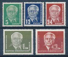 Postfrische Briefmarken der DDR (1949-1954) als Satz mit BPP-Signatur