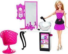 Barbie Style Malibu Ave Salon With Doll Playset Cmm55