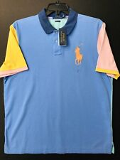Polo Ralph Lauren Multicolor Big Pony Classic Fit Mesh Polo Shirt Men's XXL NWT