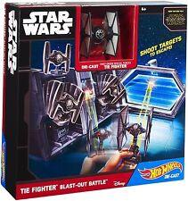 Hot Wheels Star Wars Die Cast TIE Fighter Blast-Out Battle Play Set