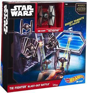 Hot Wheels Star Wars Die Cast TIE Fighter Blast-Out Battle Play Set NEW IN BOX