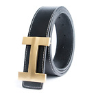 New Genuine Real Leather H Buckle Strap for Jeans Luxury H Brand Designer Belts