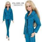 ELENPRIV FA Aquamarine jacket pants outfit for Barbie MTM, Poppy Parker dolls