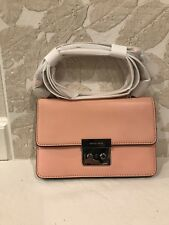 MICHAEL KORS Sloan Small Gusset Crossbody Pale Pink Gold Leather Handbag