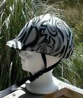 helmet cover -  white w blk/silver lines - S