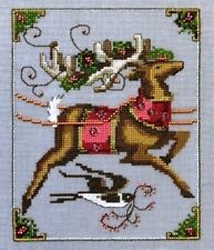 """CUPID"" CHART, EMBELLISHMENT PACK & LINEN - XMAS Eve Couriers by Nora Corbett"