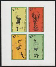 GB Locals EYNHALLOW  7495 - 1982 FOOTBALL WORLD CUP imperf sheetlet of 4 u/mint