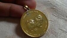 Gold 925 Silver Year of Dog (Pekingese) Pendant Chinese Zodiac Libra Round Coin