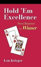 Hold'em Excellence (2nd Edition), Krieger, Lou, Good Condition, Book