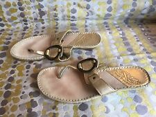Hush Puppies Gold Toe Post Sandals Size 4