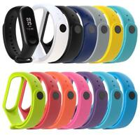 for Xiaomi Miband 3 Smart Sport Watch Silicone Soft 220mm Wrist Strap Band Belt